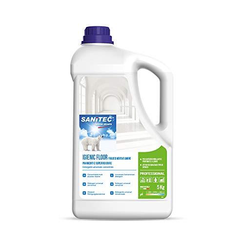 Sanitec Igienic Floor Detergente Pavimenti, 5 kg - Foglie di Menta e Limone
