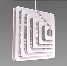 Lampadario moderno Design quadrati 3D Lampada Sospensione Soffitto Arredamento