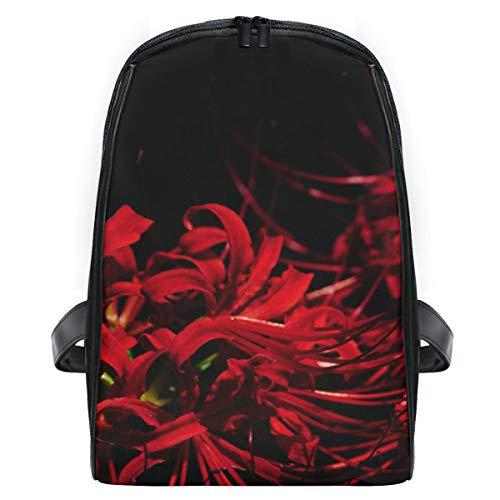 LUPINZ Red Equinox Rucksack mit Blumenmotiv, extra klein, freundlich, langlebig, Reiserucksack für Schule, Büchertasche