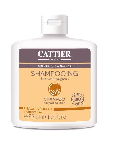 Cattier Shampooing, Soluté de Yogourt, Usage quotidien, BIO, 250 ml Lot de 2