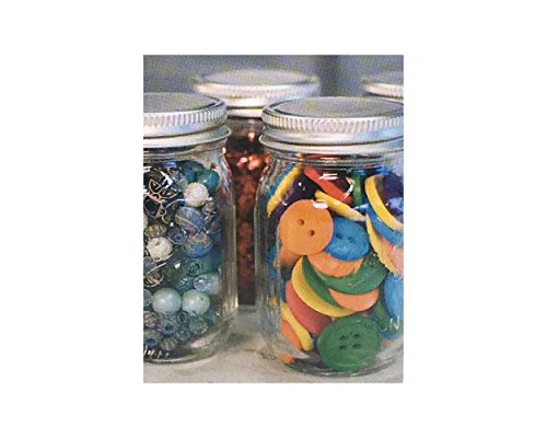 Mini Mason Spice Jar with Dispenser Lid 4oz (4, black)