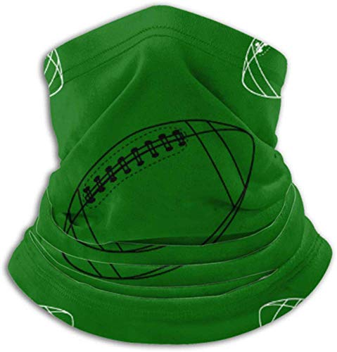 Zcfhike Fleece Neck Warmer ,Multifunctional American Football Ball Rugby Scarf,a Full Face Mask Or Hat, Neck Gaiter, Neck Cap ,ski Mask, Half Mask,face Mask