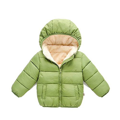 Baby Coat Boys Winter Jackets Autumn Outerwear Hooded Infant Coats Kids Snowsuit Thicken Green 24M