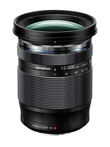Olympus M.Zuiko Digital ED 12-200mm F3.5-6.3 Objektiv (Universalzoom, geeignet für alle MFT-Kameras, Olympus OM-D und PEN Modelle, Panasonic G-Serie) schwarz