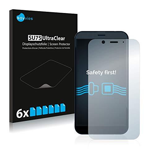 Savvies 6X Schutzfolie kompatibel mit Shiftphones Shift6m Bildschirmschutz-Folie Ultra-transparent