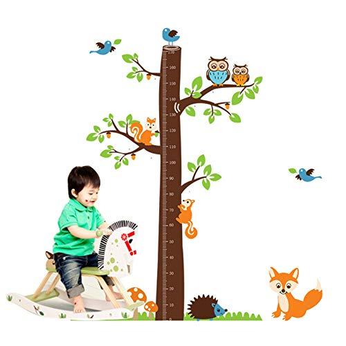 Gymqian Grabación de Crecimiento Gráficos de Altura de Los Niños para Niños Pegatina de la Pared de la Gráfica de Crecimiento Del Bebé de Los Niños Regla de Medición para Niños Deco