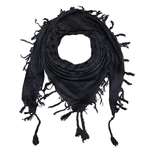 Superfreak Palituch - Sterne grau-dunkelgrau - schwarz - 100x100 cm - Pali Palästinenser Arafat Tuch - 100% Baumwolle