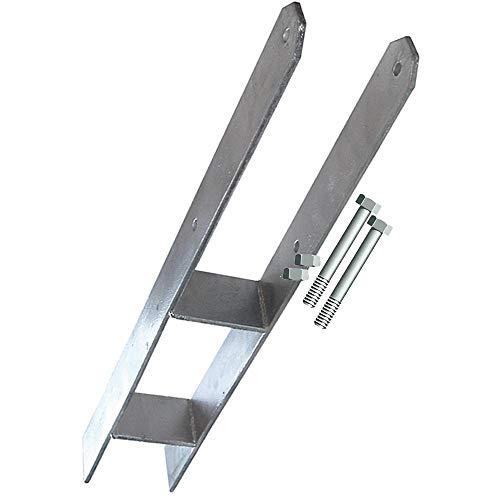 Betonanker, H-Anker für 11 cm Pfosten mit Schrauben