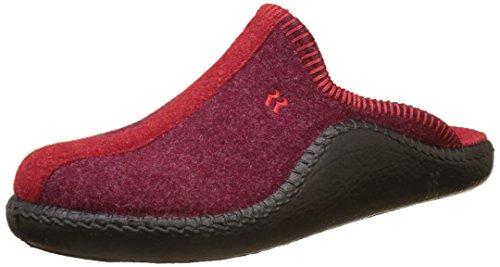 Romika Mokasso 62, Unisex-Erwachsene Pantoletten, Rot (Rot-kombi 401), 42 EU