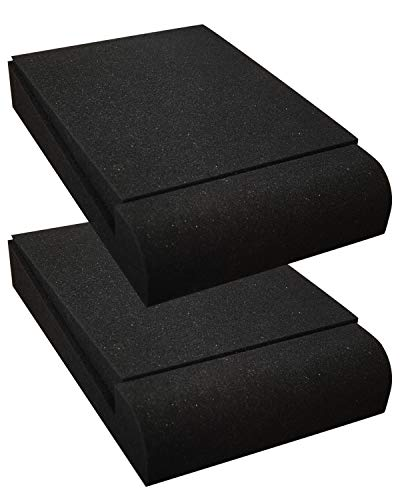 Studio Monitor Isolation Speaker Pads- Audio Acoustic Noise Isolation Platform Foam Pads for 5 Inch Speakers for Studio Monitor, Subwoofer, Loudspeakers -2 Pads