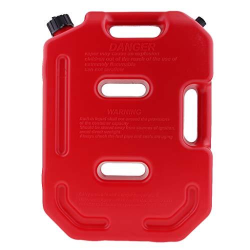 H HILABEE 10L Tragbar Weithalskanister/Abklärkanister/Mehrzweckkanister für Kompressorenöl Spindelöl Traktorenöl usw, Benzinkanister als Auto Zubehör - rot