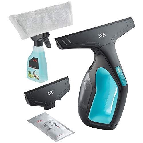 AEG Fenstersauger WX7-60 A2 (60 Min. Laufzeit, Lithium-Power-Akku, inkl. 2 Aufsätze, Sprühflasche mit waschbarem Mikrofaser-Wischbezug