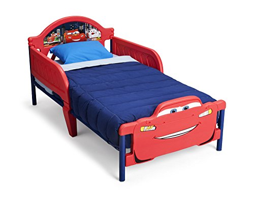 Lightning McQueen Children 3D-Footboard Toddler Bed, Disney/Pixar Cars