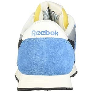 Reebok Men's Classic Nylon Running Shoe, Cyan/tin/True Grey/Chalk, 3.5 M US