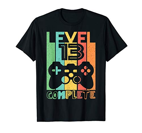 13 Geburtstag Geschenk - Level 13 Komplett Shirt Video Gamer