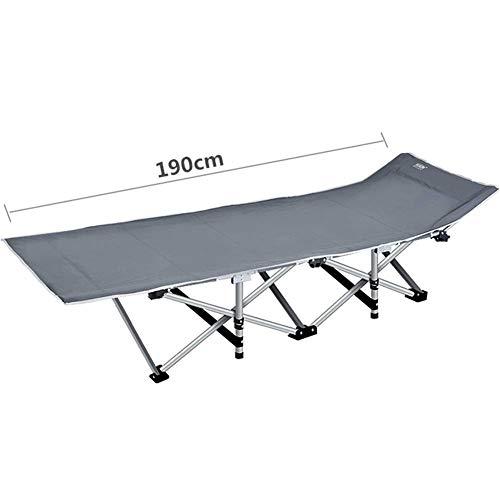 FACAZ Silla reclinable Gris Patio Cama de Camping Tumbona Cuna Cama de Invitados para Personas de Trabajo Pesado, Cama portátil Plegable para Acampar, Viajar y Descansar en el hogar, Soporte 400 kg
