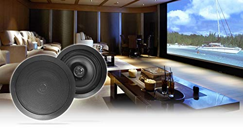 Pair Rockville HC85 Black 8' 700 Watt in-Ceiling Home Theater Speakers 8-Ohm