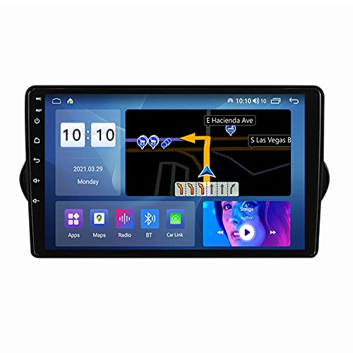 ADMLZQQ Android 10.0 In-Dash Radio Estéreo para Automóvil para Fiat Egea 2015-2018, Pantalla Táctil 9 Pulgadas, Carplay FM Am RDS DSP Bluetooth Ventilador GPS Cámara Trasera,M300s 8core 3+32g