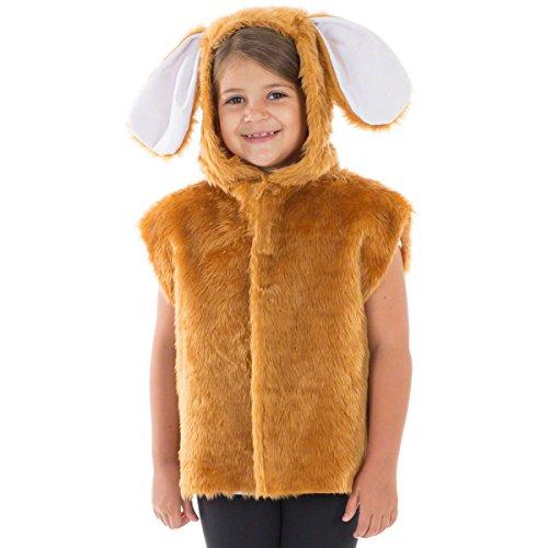 Charlie Crow Brauner Hase kostüm für Kinder - Einheitsgröße 3-8 Jahre.