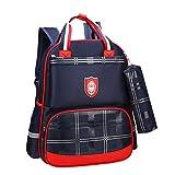 Sarahjers-Home Kleinkind Rucksack Rucksack-Kind-Schule Bookbag for Grundschüler Tasche Rucksack für Primary School Mädchen/Jungen (Color : Rose red, Size : 38 * 28 * 18cm)