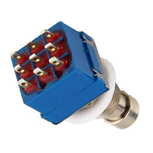 NaiCasy Effetti per Chitarra Pedale Interruttore 3PDT 9 Pin di Sicurezza Stomp Piede True Bypass elettrica Accessori per Chitarra