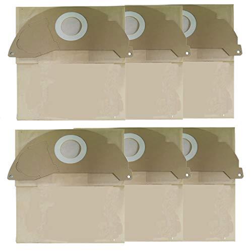Ouneed - 6-Pack für Karcher Staubsaugerbeutel Ersatz für Karcher A2000,A2099,WD2.000,WD2399 Staubfilterbeutel Staubsauger Filtertüten Staubsaugerbeutel