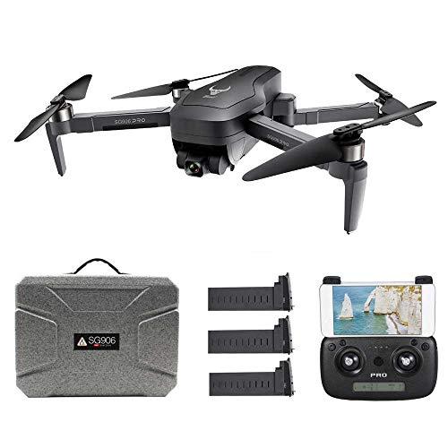 Goolsky SG906 PRO GPS RC Drone con Fotocamera 4K 5G WiFi a 2 Assi Gimbal 25mins Tempo di Volo Brushless Quadcopter Seguimi MV Foto Gesto con Batteria Portatile 3