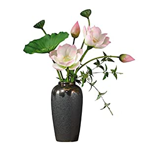 WYWY Artificial Flowers, Fake Lotus Silk Flowers Decor Realistic Flower Arrangements Wedding Decoration Table Centerpieces