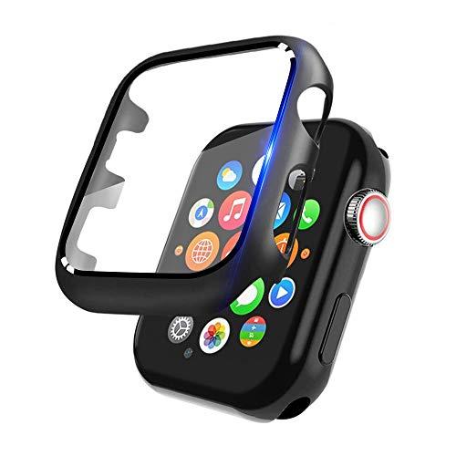 Semriver Panzerglas/Case 2 in 1 kompatibel für iWatch 42mm Series 3/2/1 - (1 Stück) Displayschutz/Case 3D Full Cover Panzerglas/Hülle 9H HD Klar Sport, Edition, Nike+ für Apple Watch 42mm