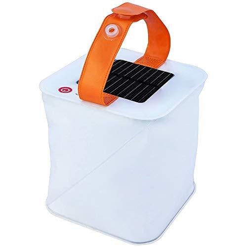 LEMKEEP Portable Inflatable Folding Camping Light Solar Lantern 150 Lumens,durable
