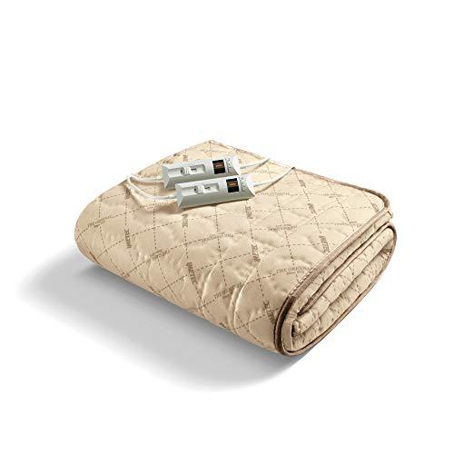 Imetec, Bettwärmer für Doppelbett, 2 Steuerungen mit 2 Temperaturen, Steppgewebe, von Hand und in der Waschmaschine bei 40°C waschbar, Maße: 150 x 140 cm