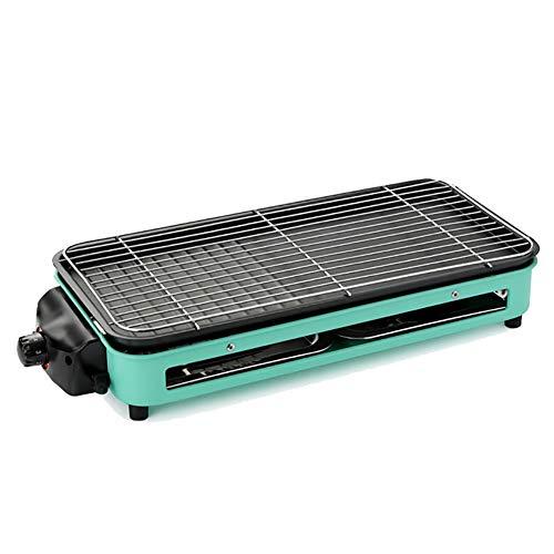 Barbacoa Eléctrica,Mesa de Barbacoa,Regulador de Temperatura,para Interior y Exterior,Superficie Antiadherente,Ideal para Carnes Vegetales