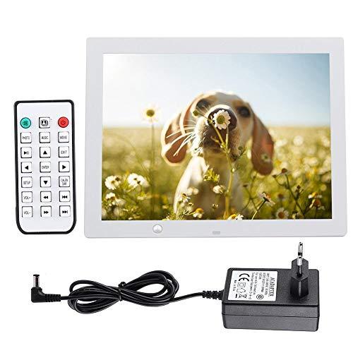 NEUFDAY 15-Zoll-Smart-Digital-Bilderrahmen Mit 16 MB Speicher, Hoch- und Querformat, die Momente sofort teilen(EU-Weiß)