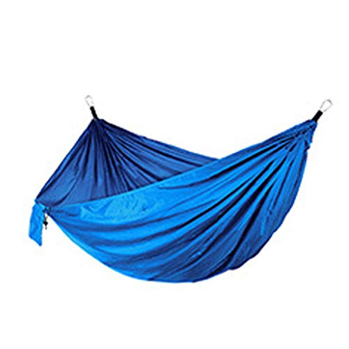 YSCYLY Hängematte Schaukel,270 * 140 cm doppelte Nylon-Hängematte,Outdoor Schnell Öffnen Fallschirm Nylon, Für Outdoor Camping Und Indoor Garten