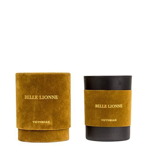 VICTORIAN Velvet Belle Leonne - Vela aromática de cera de soja, aroma de alta calidad, 45 horas de combustión, vela de soja natural en paquete de regalo, hecha a mano, diámetro 8 x 10,5 cm