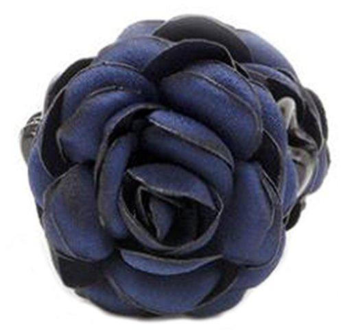 Fleurs/cheveux Barrette pince à cheveux pour les femmes/Lady/Girls Hair Ornament, Bleu foncé # 2