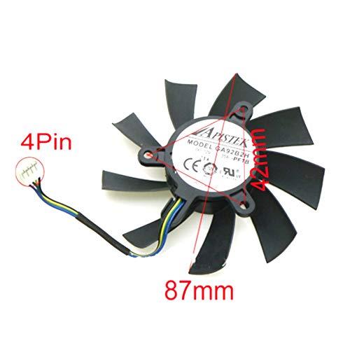 QHXCM for GA92B2U - PFTB 12V 0.35A 4Pin 87mm VGA Fan for Dataland Devil R9 390X Graphics Card Cooler Cooling Fan Cooler
