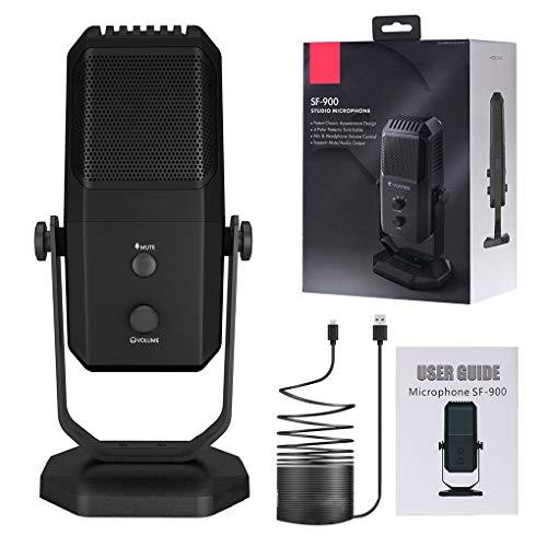 Kesilian La grabación del Condensador Profesionales de micrófono estéreo USB Gaming Ordenador con conexión de Cable de micrófono del Soporte del trípode...