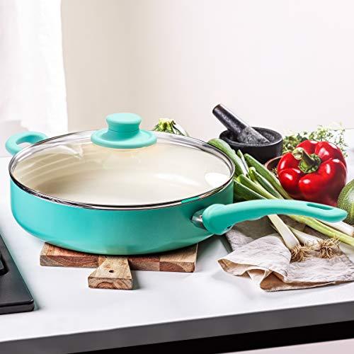 GreenLife Ceramic Nonstick, Sauté Pan With Lid