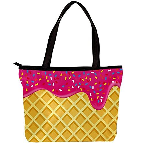 LORVIES - Bolso bandolera para mujer con diseño de fresa, color crema