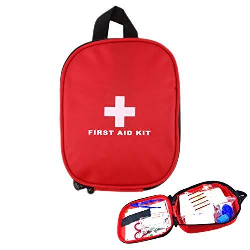 20 STKS Rode Mini Veilige Camping Wandelwagen Ehbo-tas Kit Medische Emergency Kit Behandeling Pack Outdoor Wilderness Survival