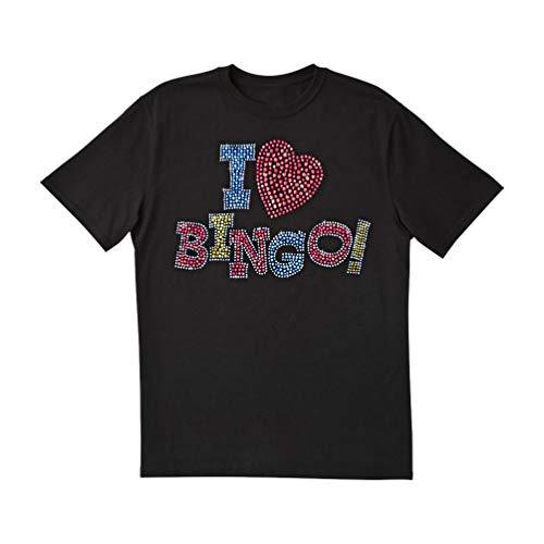 Lucky Lady Bingo T-Shirts (I Love Bingo Bling, Large)