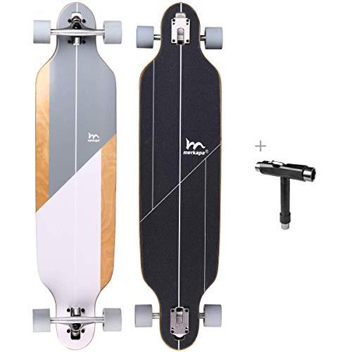 quality longboards M Merkapa 41 Inch Drop-Through Longboard Skateboard Cruiser