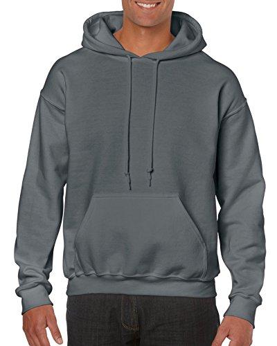 Gildan Men's Fleece Hooded Sweatshirt, Style G18500, Charcoal, Small
