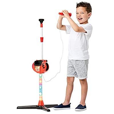 Toy Chef Karaoke Machine for Kids, Toy Microphone and Stand for Girls and Boys