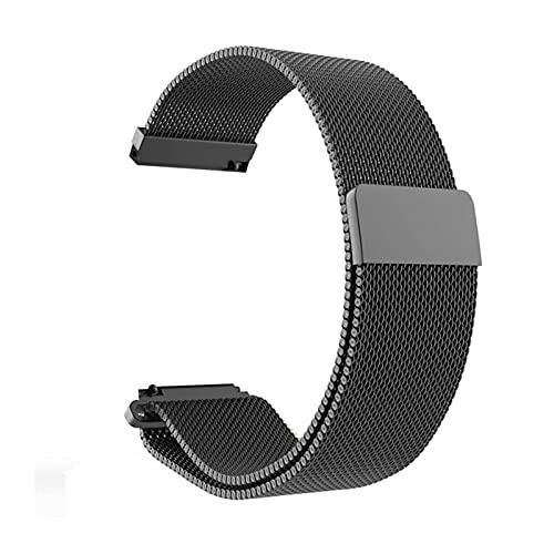 Cinturini per orologi, cinturino universale a rete cinturino con cinturino in acciaio inox collegamento ad interblocco magnetico in acciaio inox, per cinghia di ricambio intelligente da 12 mm 14mm 16m