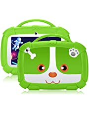 Qiamoo tablet, 7 inch, Android 9.0, kindertablet, 1 GB + 16 GB, tablet, Quad Core CPU 1,5 GHz tablet voor kinderen, met kinderbeveiligingsmodus, ondersteuning wifi & Google Play