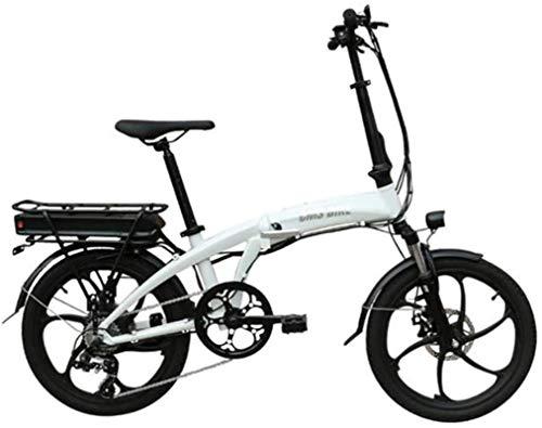 Bicicletta Elettrica, Bici elettrica 26 pollici pieghevole bicicletta elettrica di alta capacità agli ioni di litio (48V 350W 10.4a) Città biciclette Velocità massima 32 km   h Capacità di carico 110
