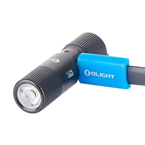 OLIGHT I1R 2 EOS Linterna Pequeña Mini Linterna LED Linterna Recargable 13 g 150 Lúmenes Max.6 Horas Autonomía IPX8 Impermeable para Camping Ciclismo,Linterna Niños,con Cable Micro-USB,Negro