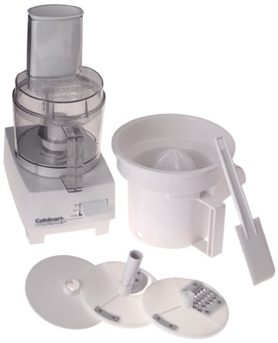 Cuisinart LPP Little Pro Plus 3-Cup Food Processor and Juicer, White
